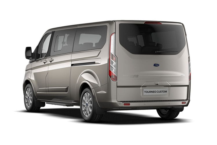 Ford Tourneo Custom 320 L1 M1 2.0 EcoBlue MHEV FWD 130PS Titanium Minibus Manual [Start Stop] [8Seat] back view